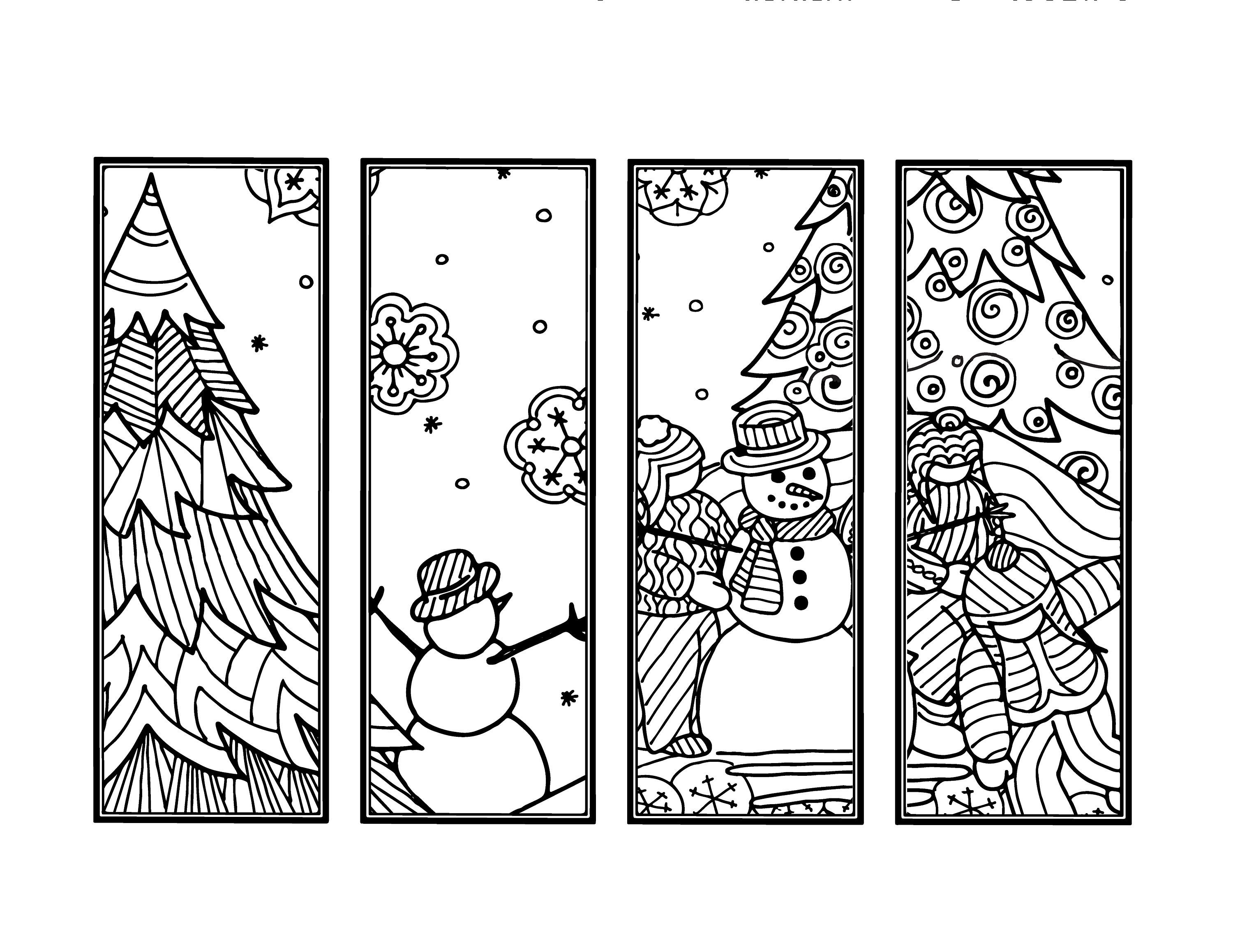coloring christmas bookmarks diy snowman bookmarks set of 4 holiday crafts winter coloring christmas bookmarks