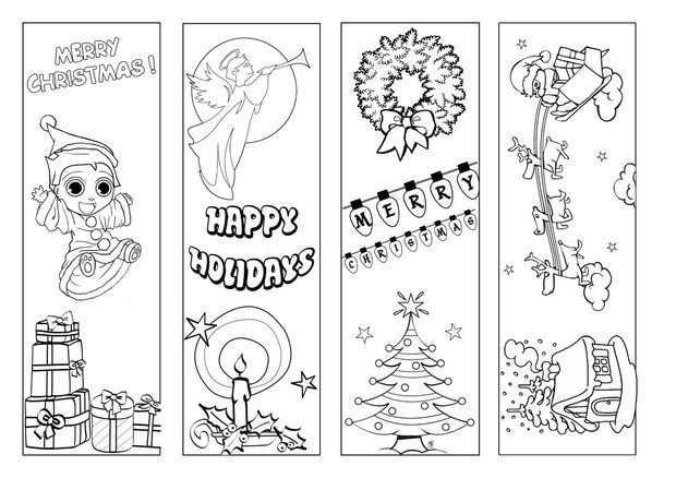 coloring christmas bookmarks how to craft to color by hand hellokidscom coloring bookmarks christmas