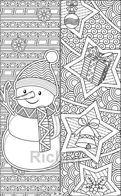 coloring christmas bookmarks set of 8 christmas coloring bookmarks abstract design christmas coloring bookmarks