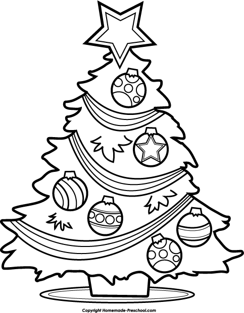 coloring christmas clipart black and white christmas tree clip art at clkercom vector clip art white christmas coloring and black clipart