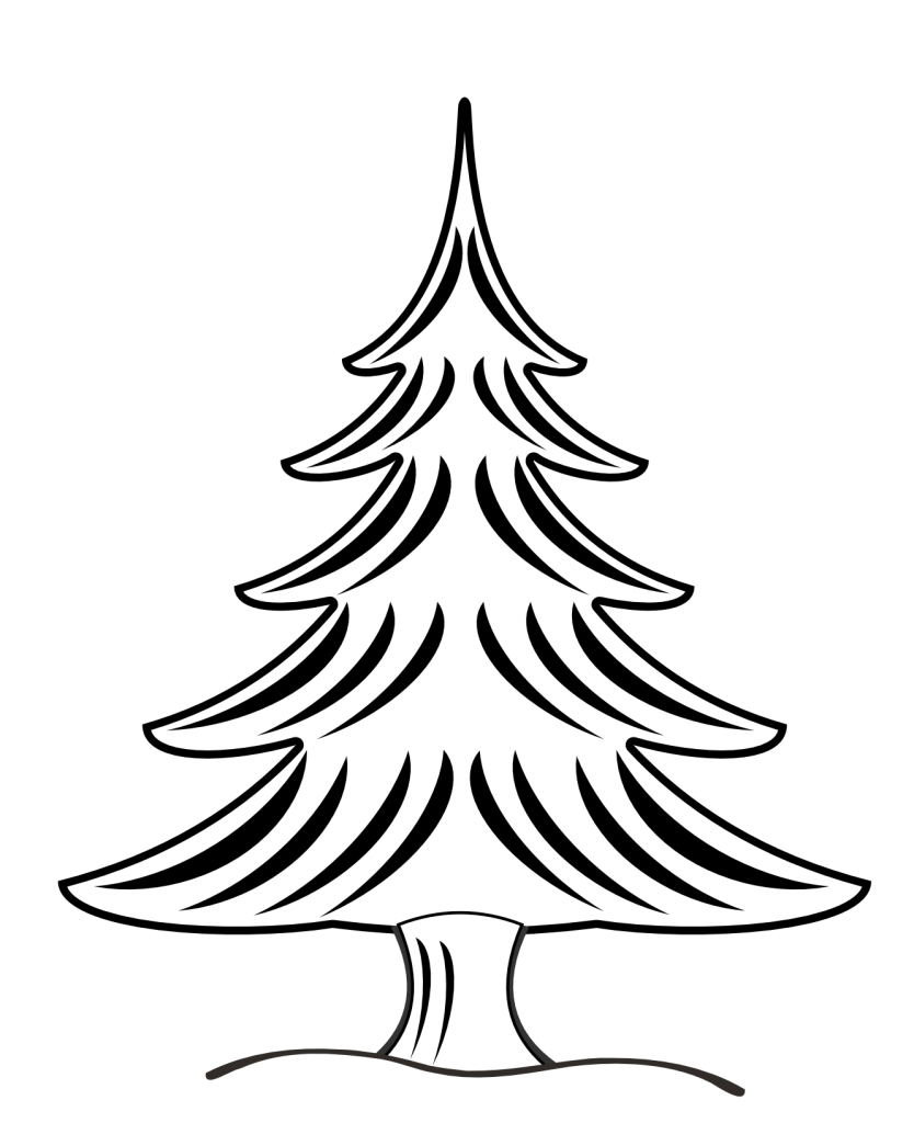 coloring christmas tree black and white black and white christmas tree drawing at getdrawings christmas black white coloring tree and