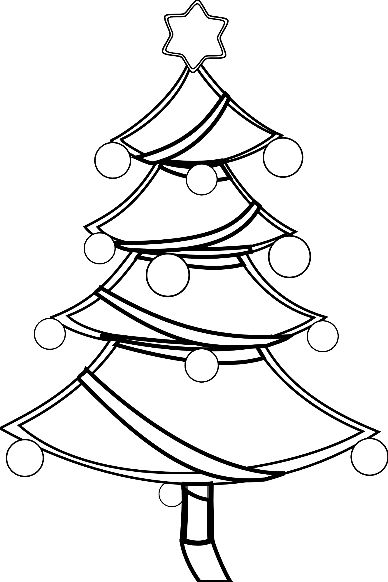coloring christmas tree black and white christmas tree black and white christmas tree outline tree christmas and coloring black white