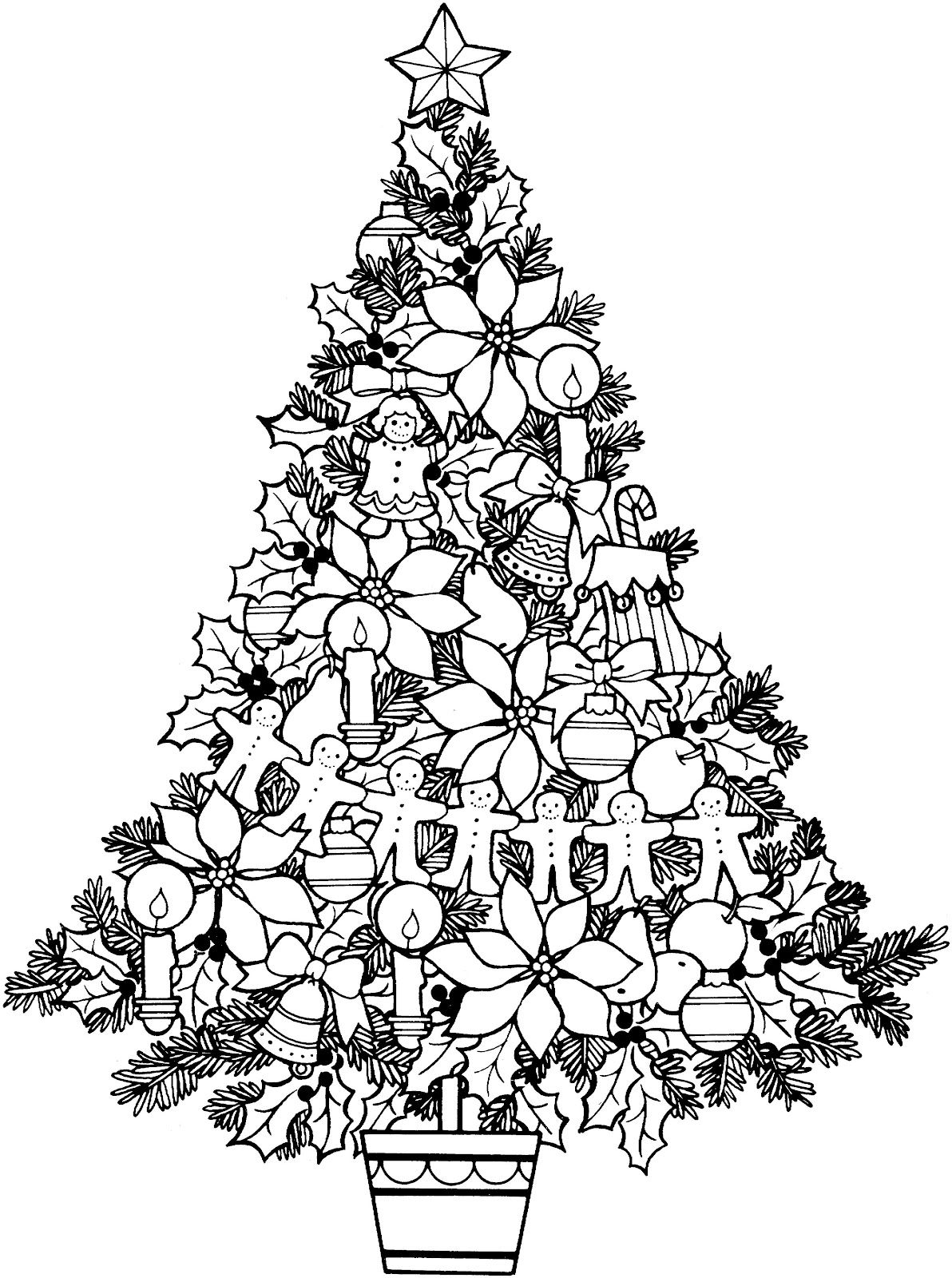 coloring christmas tree black and white christmas tree coloring pages for childrens printable for free christmas and coloring black white tree