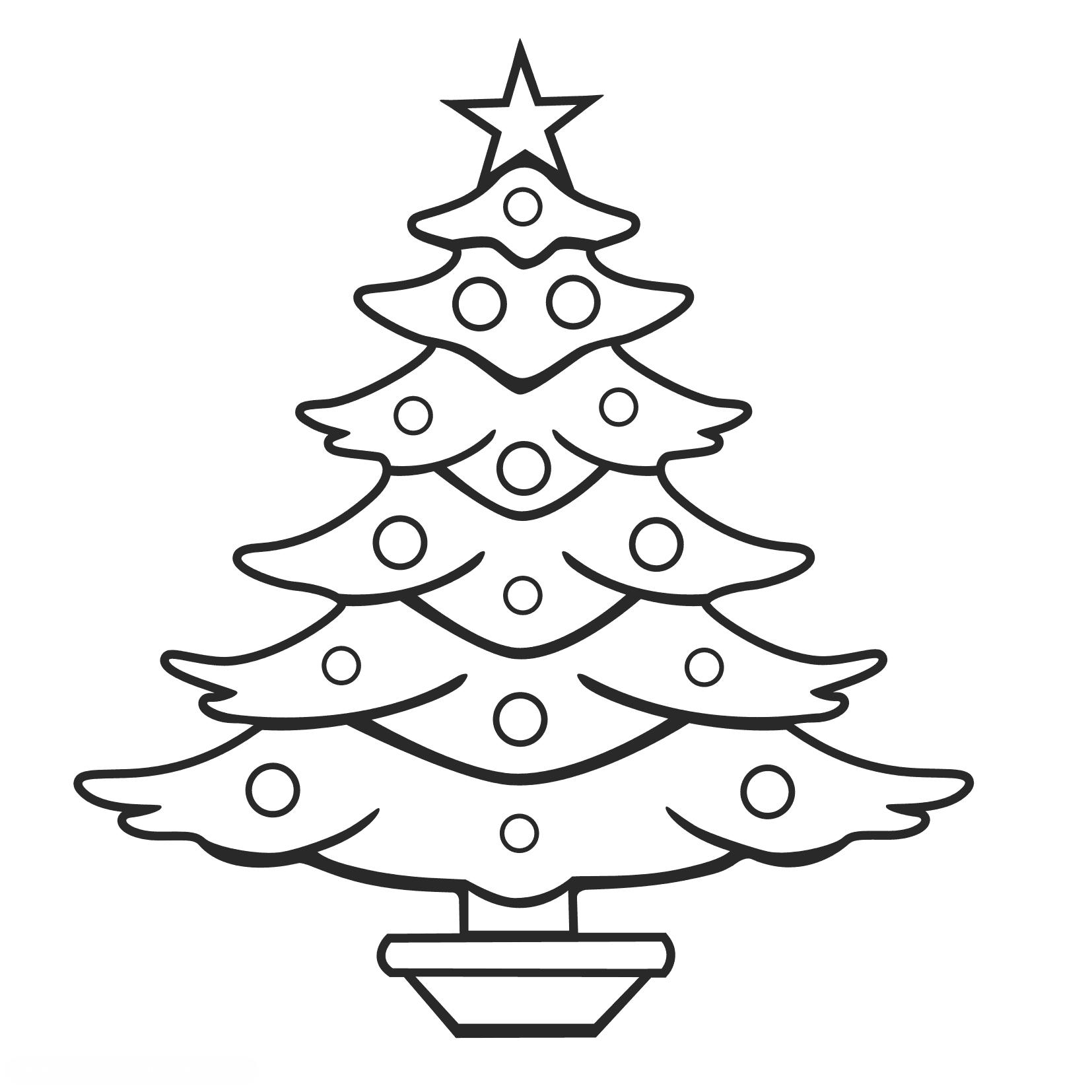coloring christmas tree black and white christmas tree outline coloring home black christmas coloring white and tree
