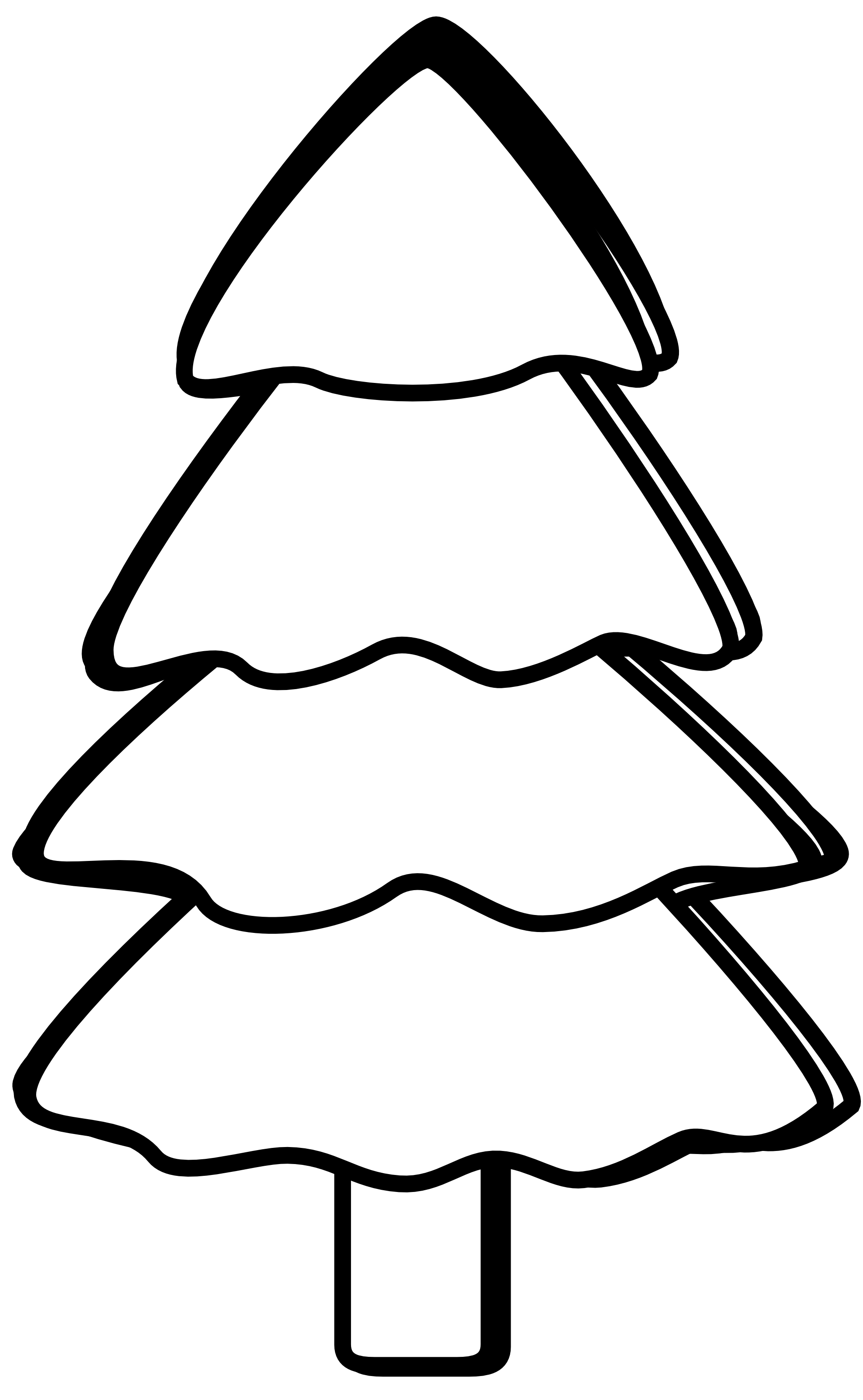 coloring christmas tree black and white christmas tree outline free download on clipartmag tree coloring black white christmas and