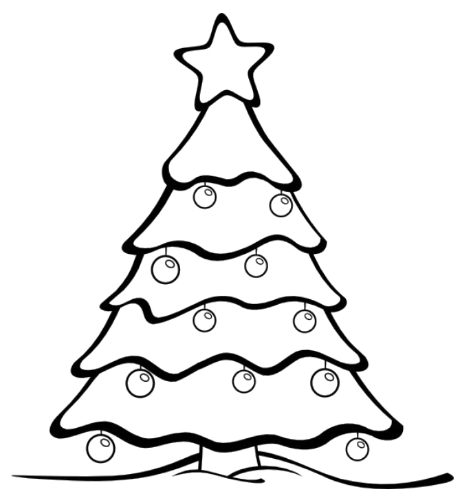 coloring christmas tree black and white free christmas tree coloring page printable xmas clipart and coloring white christmas black tree