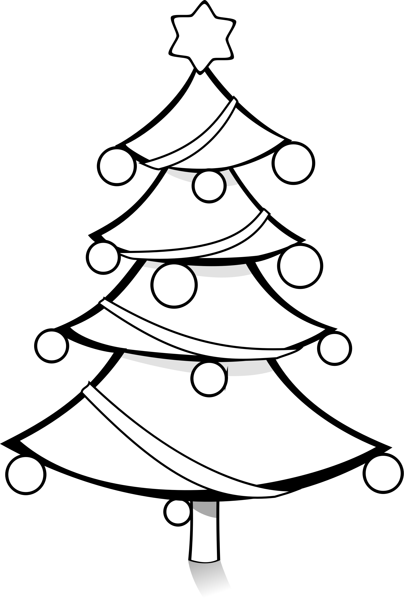 coloring christmas tree black and white printable coloring pages black coloring tree christmas white and