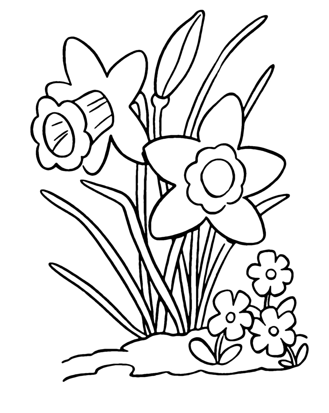 coloring clipart for kids daffodil coloring pages best coloring pages for kids clipart coloring kids for