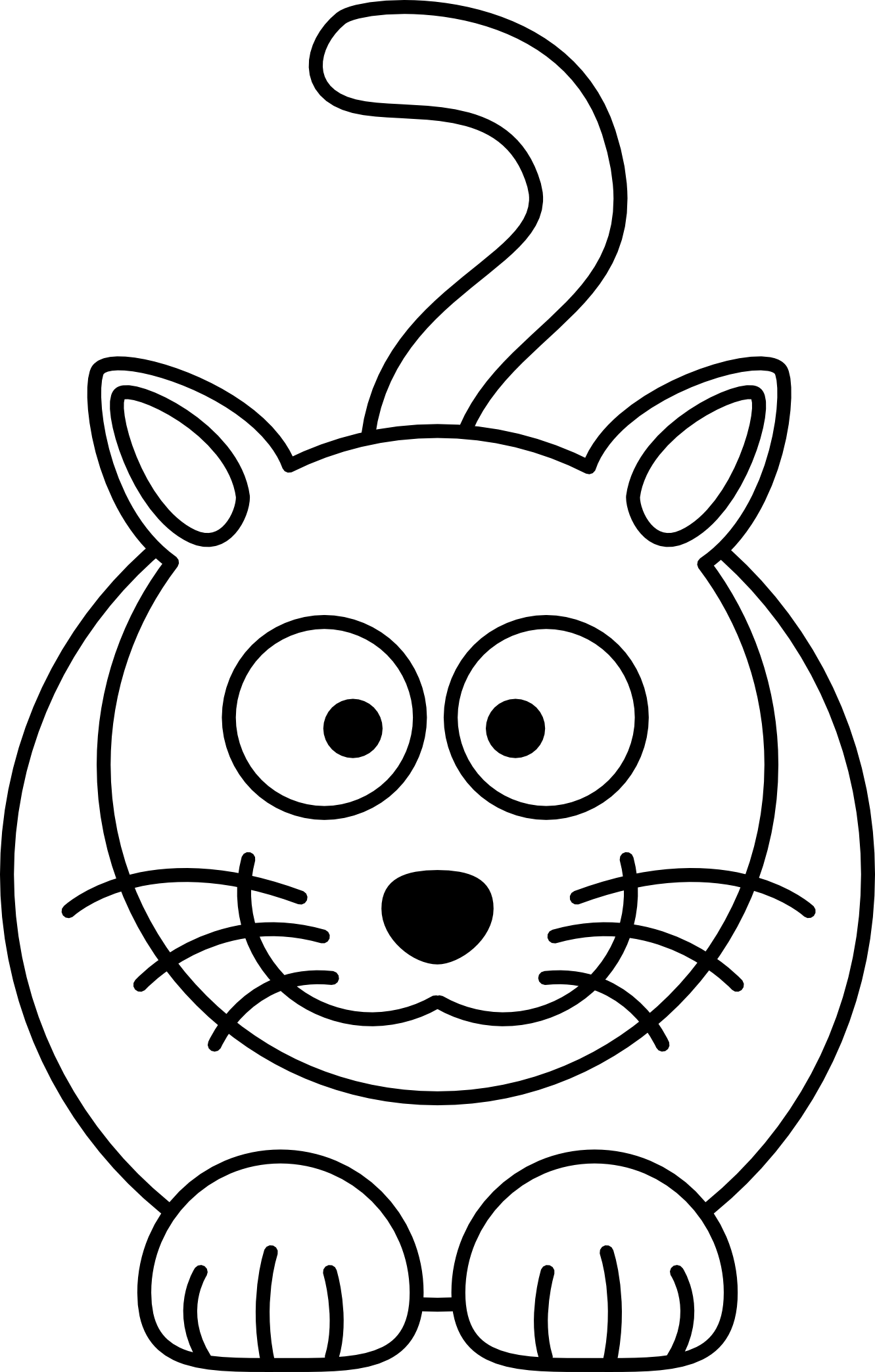 coloring clipart for kids lemmling cartoon cat black white line art coloring book kids clipart for coloring