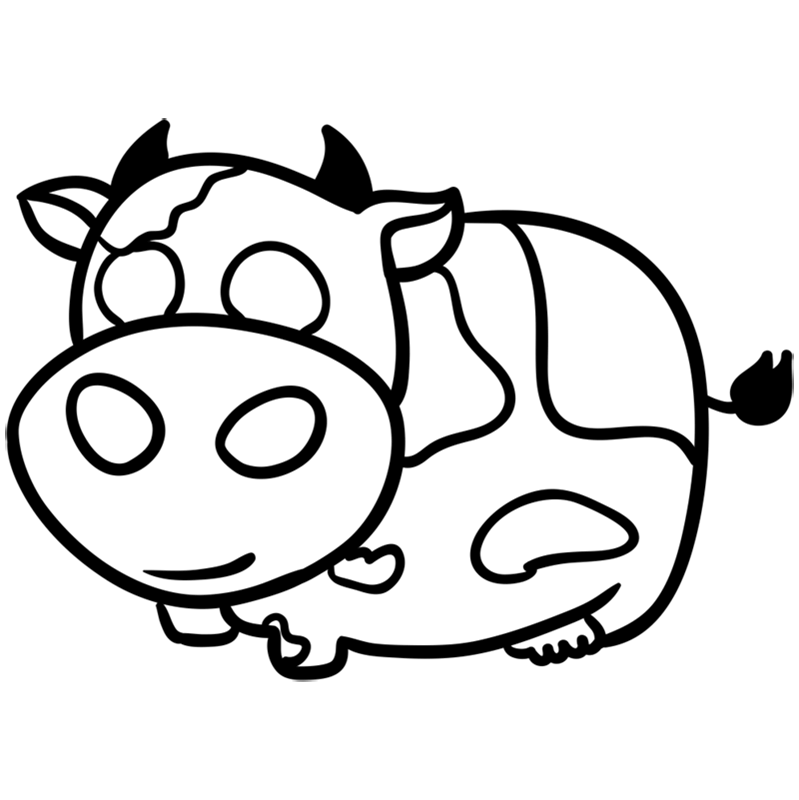 coloring cow drawing easy baby cows coloring pages kids play color cow easy coloring drawing