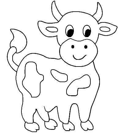 coloring cow drawing easy cow coloring page super simple easy coloring cow drawing