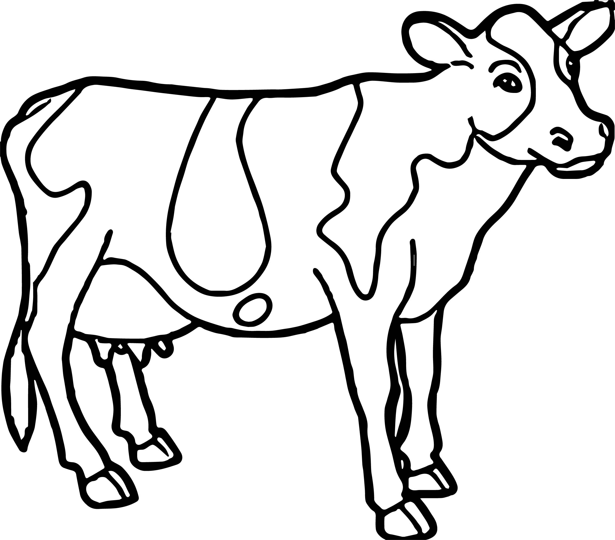 coloring cow drawing easy cow picture of cow coloring page animal coloring cow easy drawing coloring