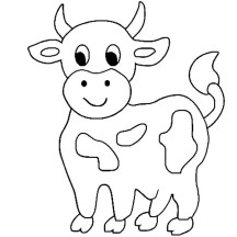 coloring cow drawing easy cute cow coloring pages getcoloringpagescom coloring easy cow drawing