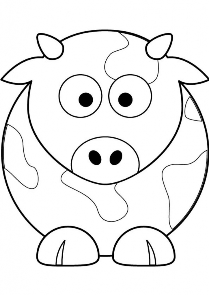 coloring cow drawing easy cute cow drawings clipartsco cow drawing coloring easy