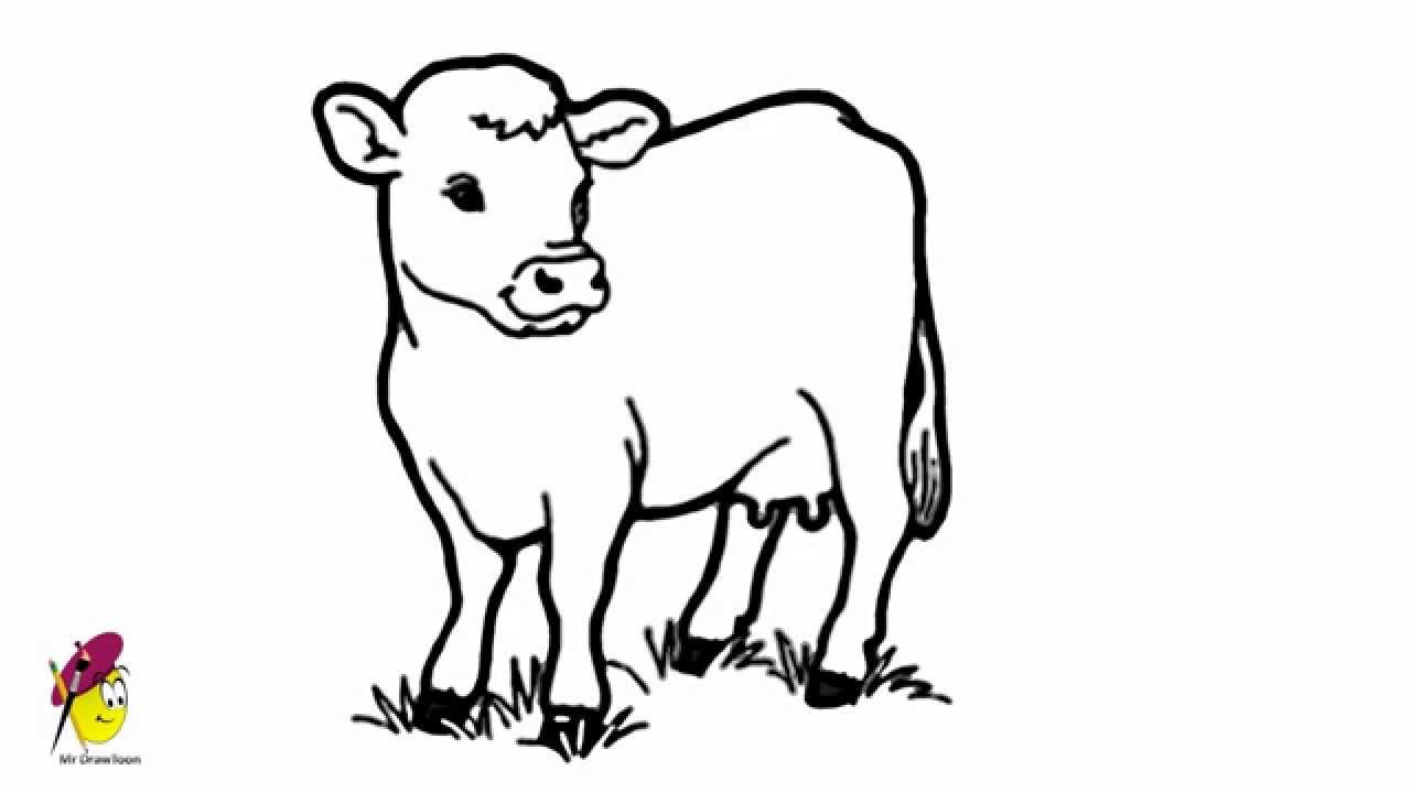 coloring cow drawing easy how to draw a cartoon cow in a few easy steps easy drawing cow easy coloring