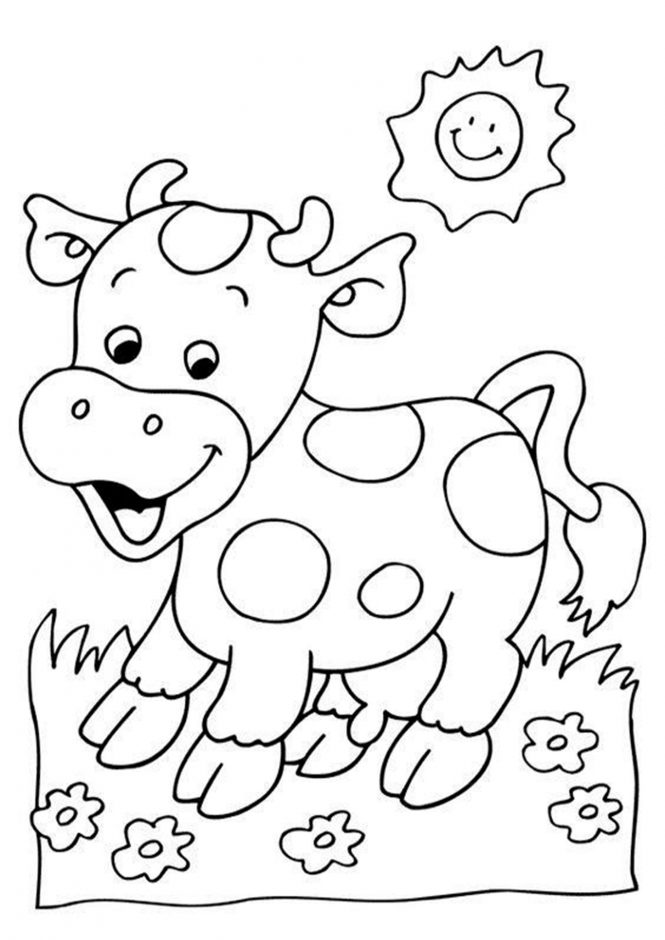 coloring cow drawing easy simple cow coloring pages free printable coloring pages drawing easy cow coloring