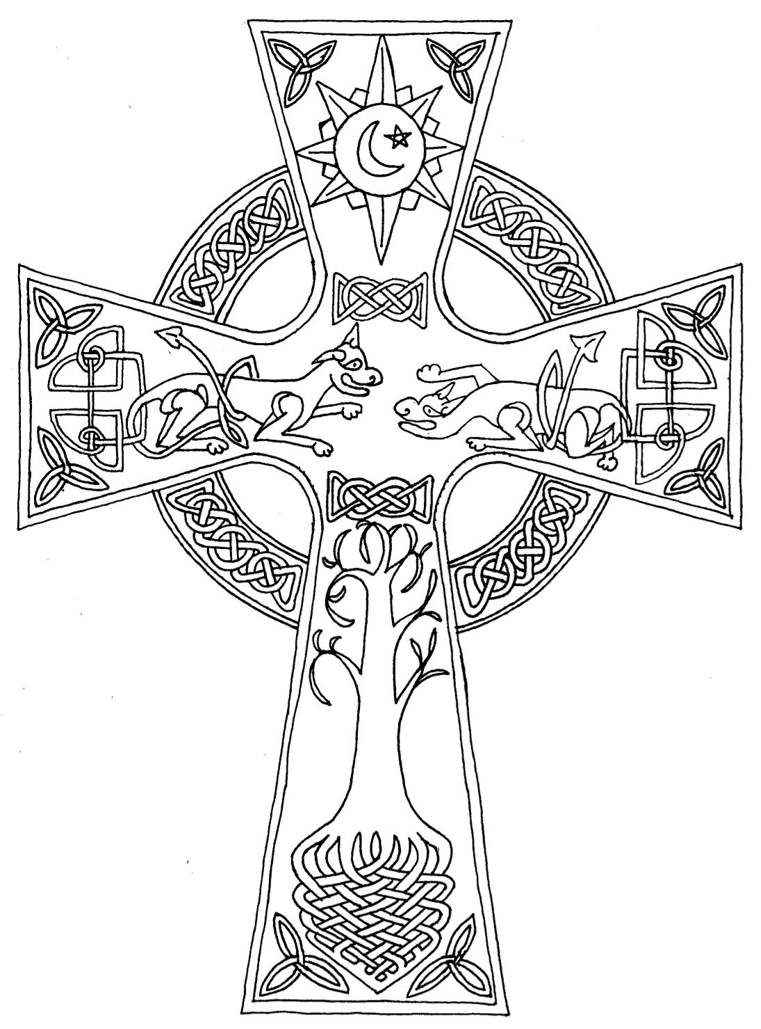 coloring cross kids celtic cross coloring page thecatholickidcom in 2020 coloring cross kids