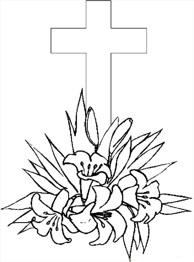 coloring cross kids sam and mary39s family page happy easter he is risen cross coloring kids