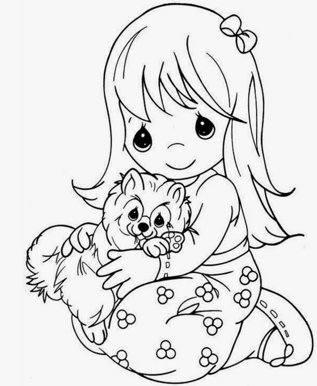 coloring cute pictures colours drawing wallpaper beautiful precious moments girl coloring pictures cute
