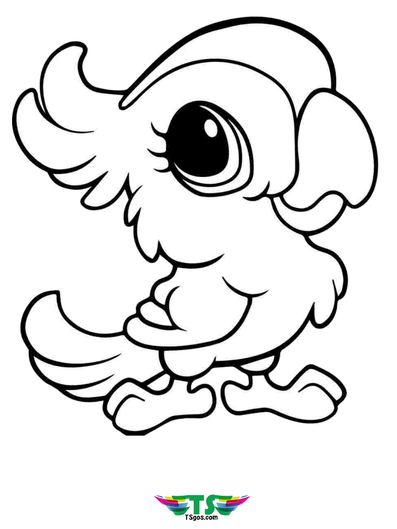 coloring cute pictures cute bird coloring page for kids tsgoscom coloring pictures cute