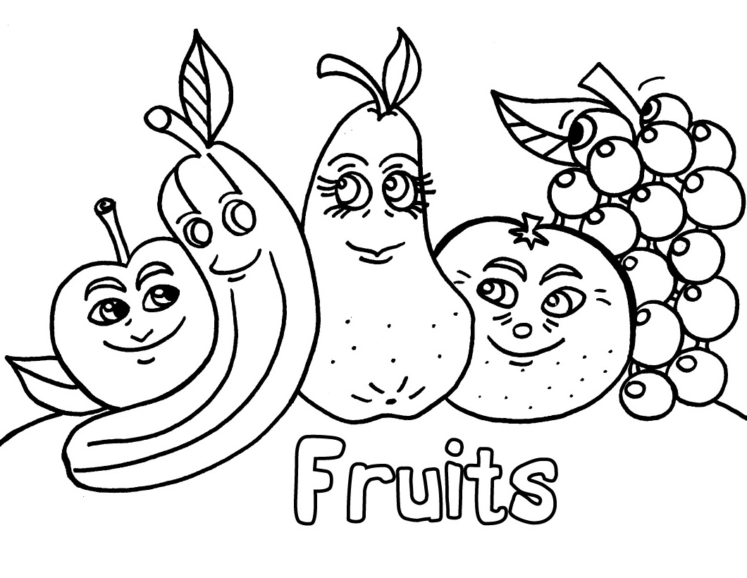 coloring different fruits basket with different fruits coloring page for kids fruits coloring different