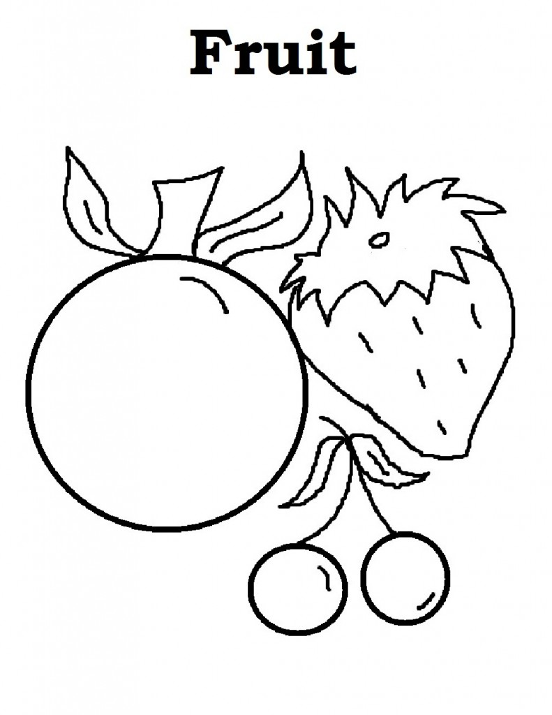 coloring different fruits free printable fruit coloring pages for kids coloring different fruits