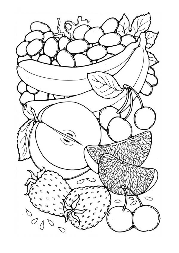coloring different fruits fruit picture for calender coloring page netart di 2020 different fruits coloring