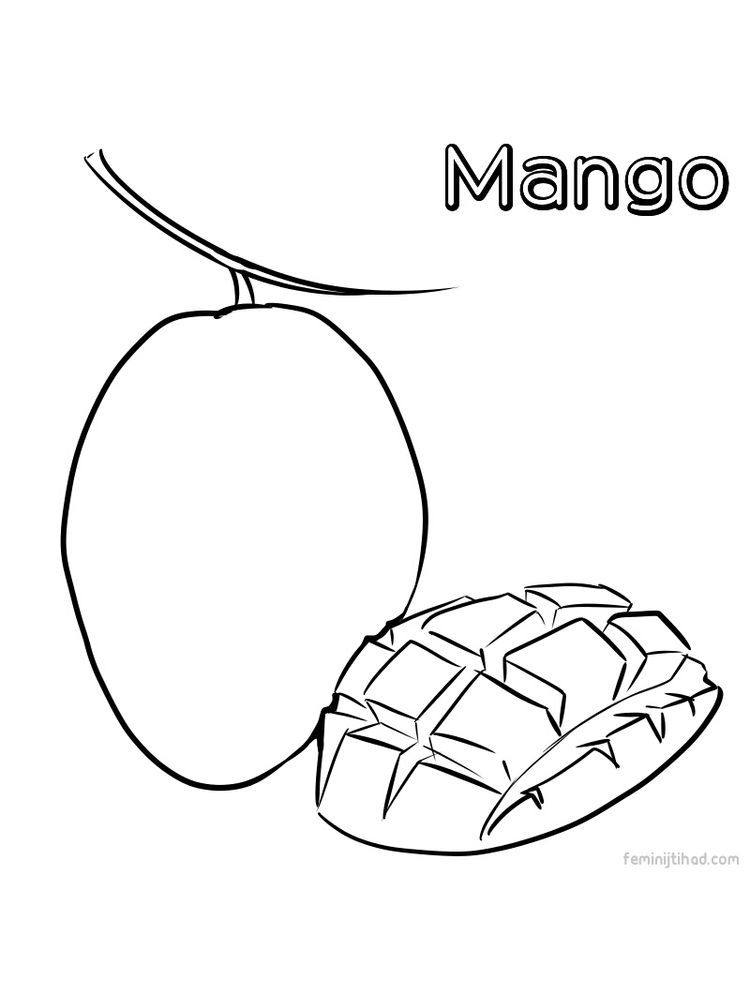 coloring different fruits mango image coloring page print mango is a type of fruit fruits coloring different
