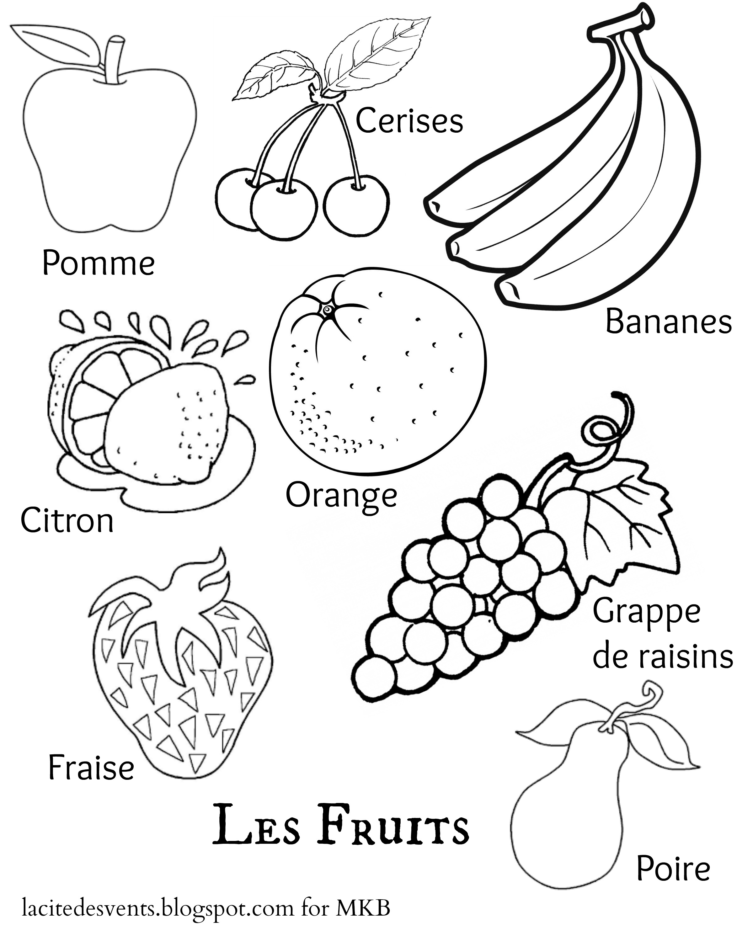 coloring different fruits multilingual printables fruits and vegetables in 7 languages fruits different coloring