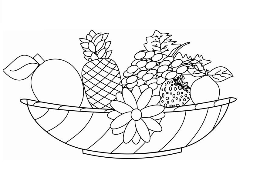 coloring different fruits printable healthy eating chart coloring pages coloring fruits different