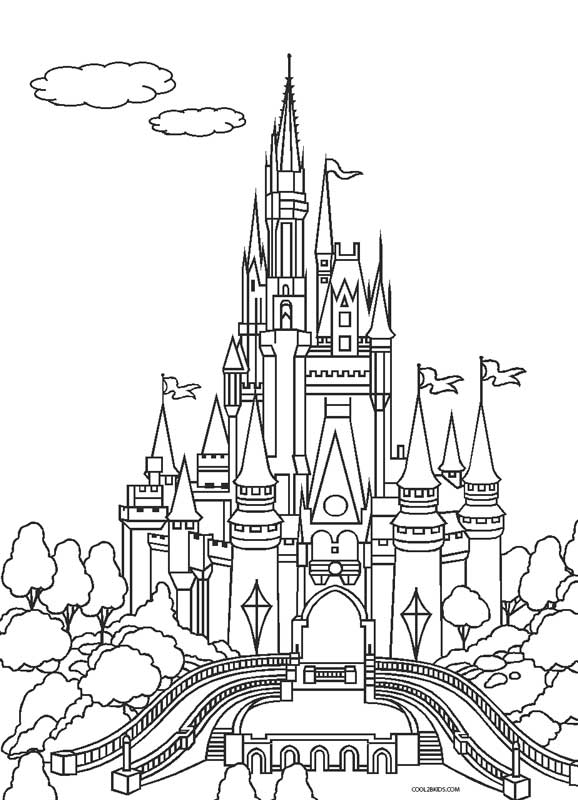 coloring disney castle free printable cinderella coloring pages for kids cool2bkids castle disney coloring
