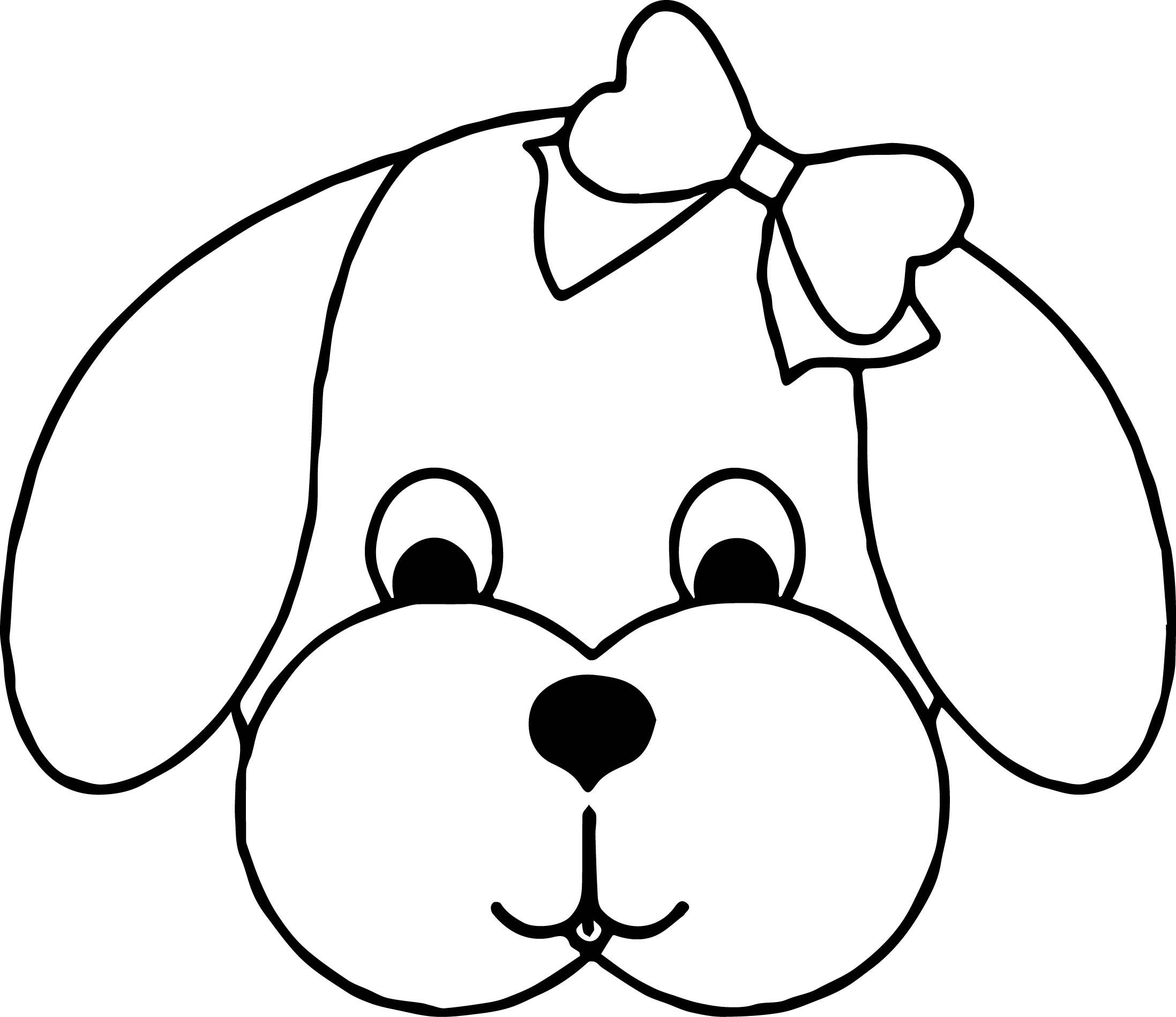 coloring dog face cute dog face drawing at getdrawings free download face dog coloring