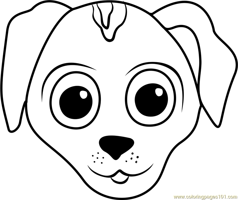 coloring dog face dog face coloring page at getcoloringscom free coloring face dog