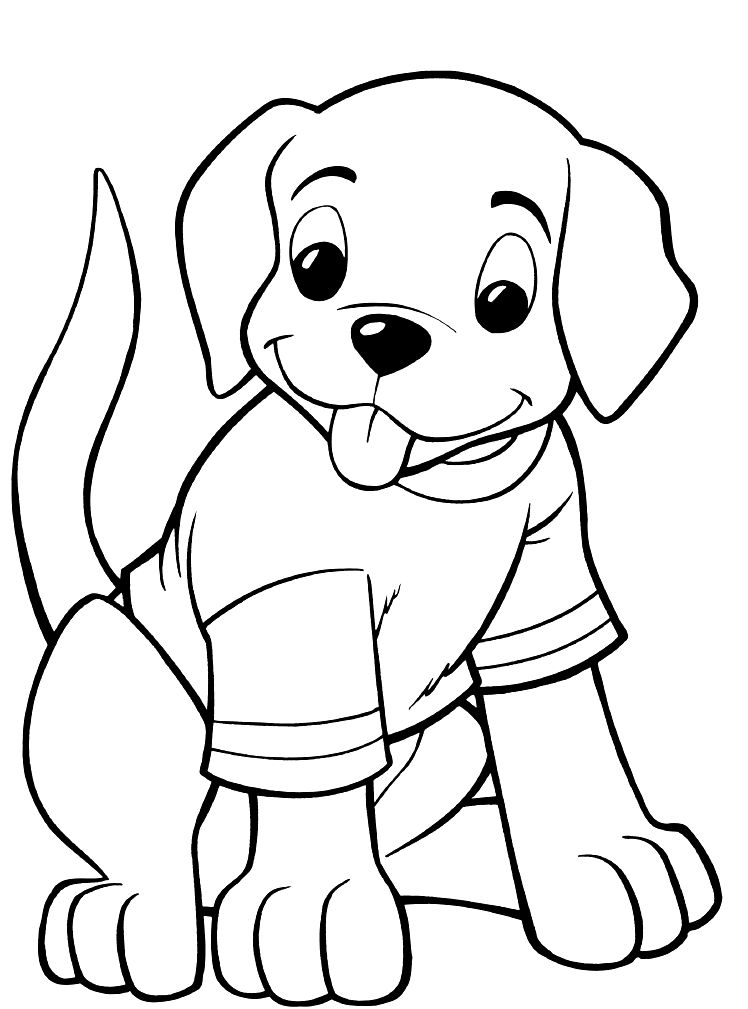 coloring dog for kids dog free to color for children cute female dog dogs coloring for kids dog