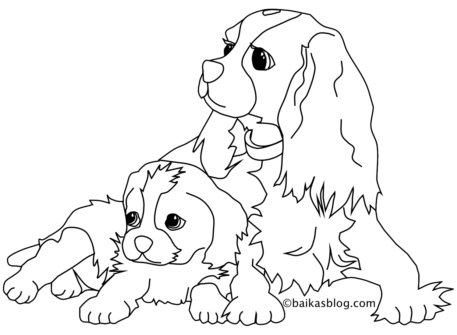coloring dog for kids dog free to color for children two lovely dogs dogs coloring kids dog for