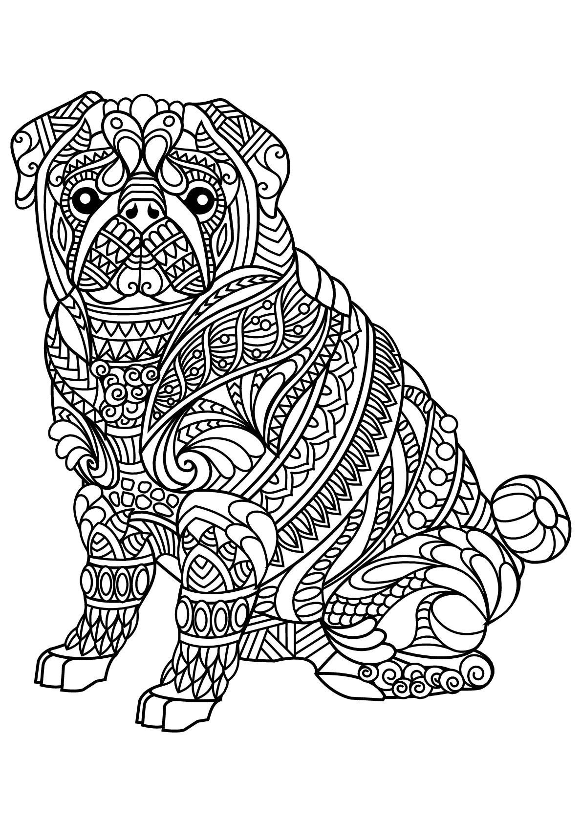 coloring dog for kids dog to color for children dogs kids coloring pages kids dog for coloring 1 1