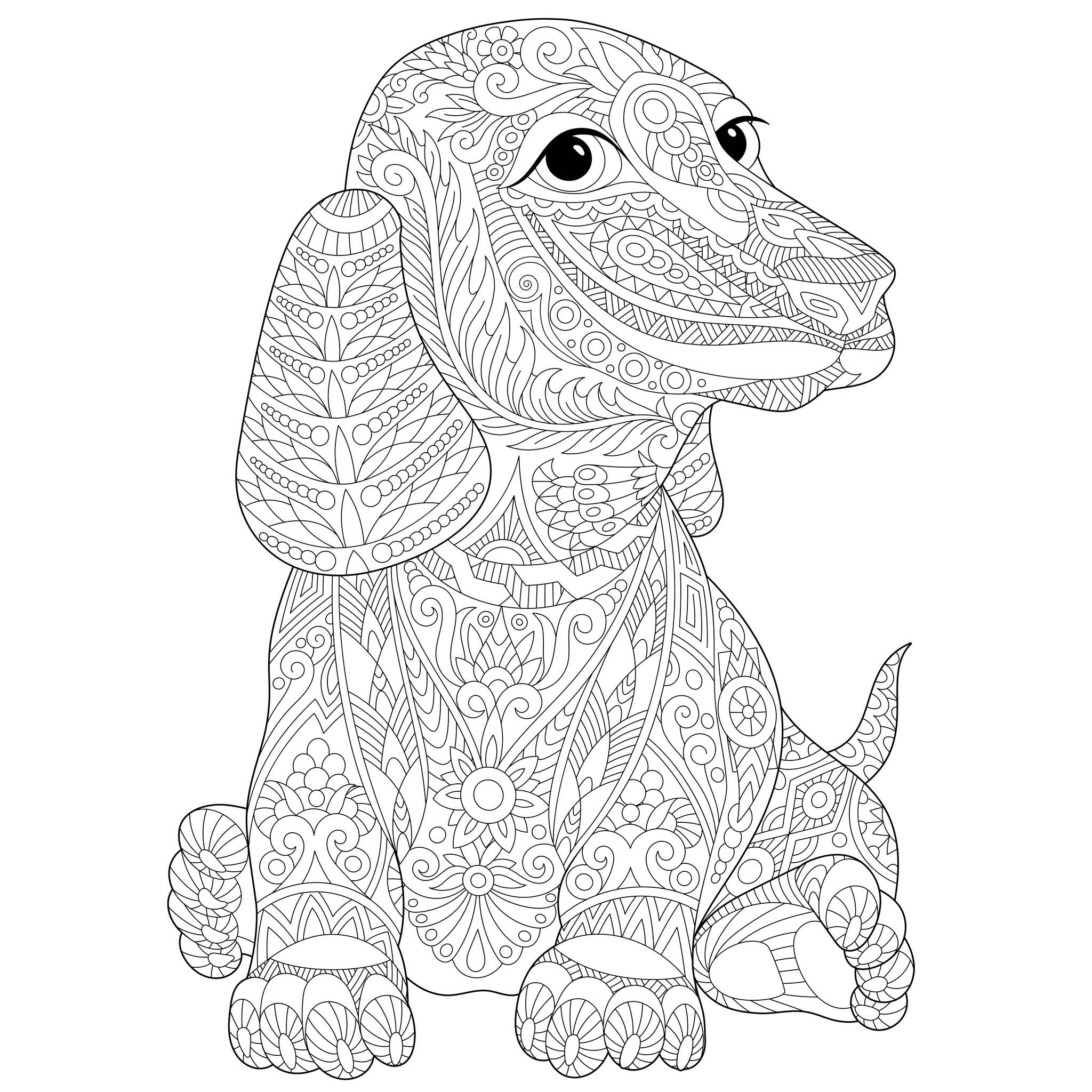 coloring dog for kids employ dog coloring pages for your childrens creative time kids coloring for dog
