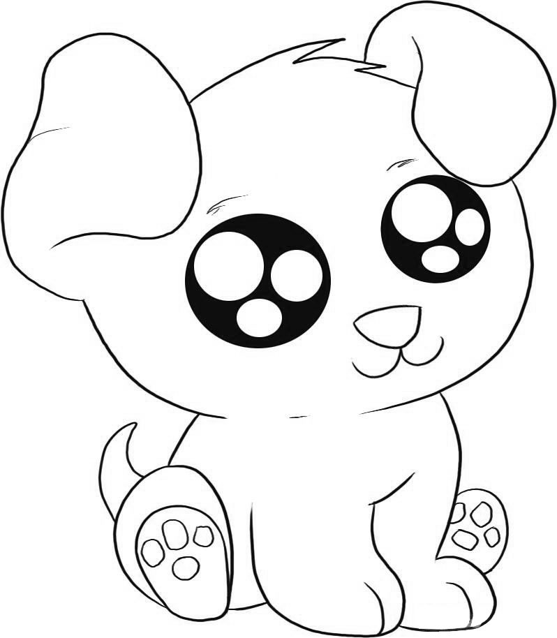 coloring dog for kids realistic puppy coloring pages download and print for free kids dog coloring for