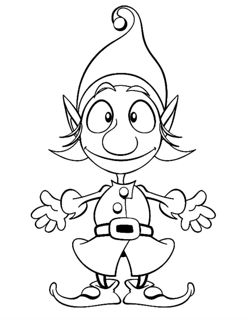 coloring elf christmas coloring page kids for fantasy image photos elves christmas elf coloring
