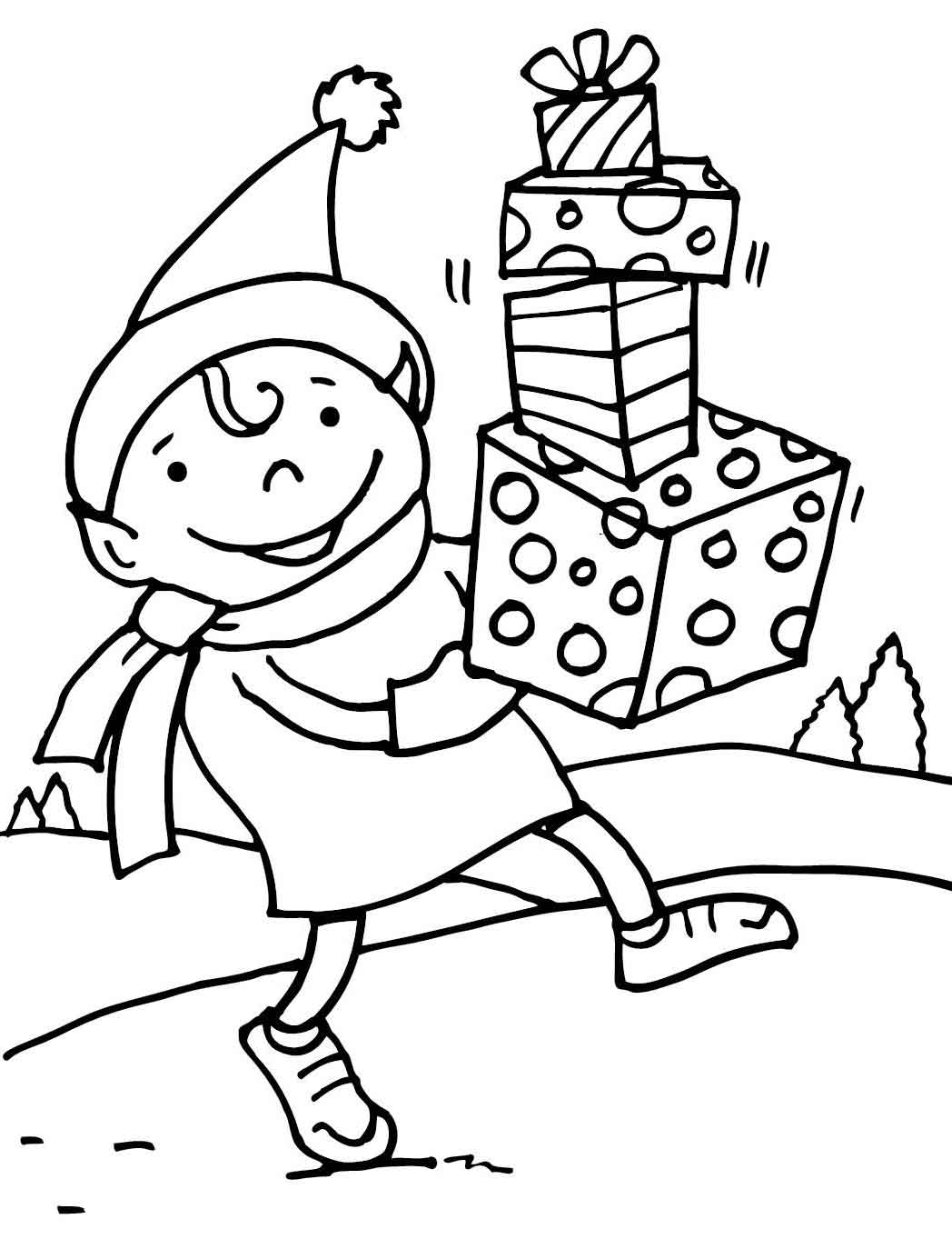 coloring elf christmas elf on the shelf color pages elf christmas coloring