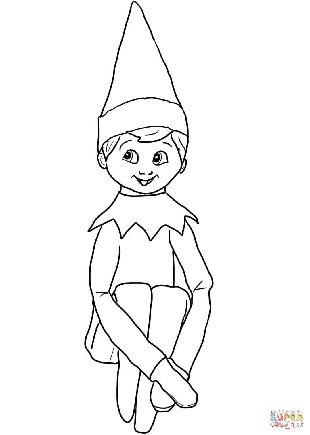 coloring elf christmas holiday coloring pages cool2bkids christmas elf coloring