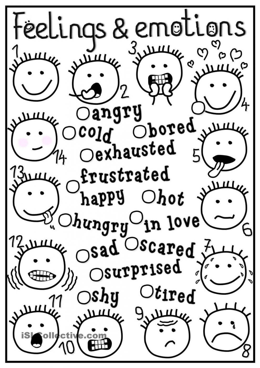 coloring emotions printable 13 best images of recognizing your emotions worksheet coloring emotions printable