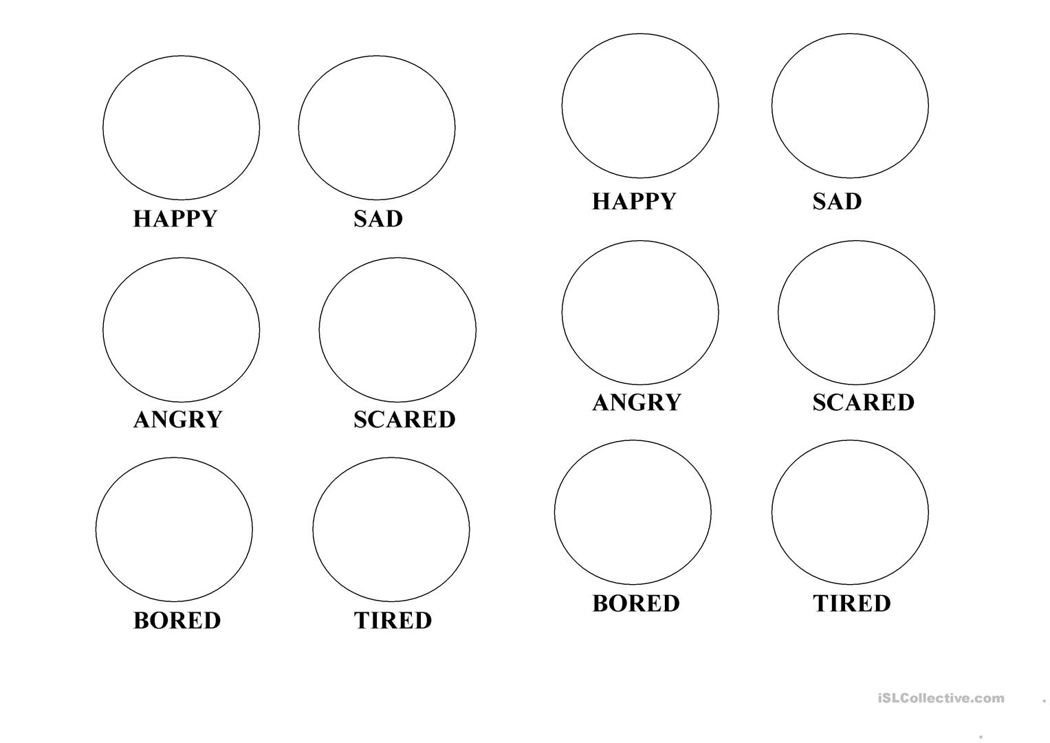 coloring emotions printable 13 best images of sad face worksheet happy sad face coloring printable emotions