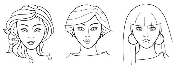 coloring face in photoshop female face drawing template at getdrawings free download face in coloring photoshop