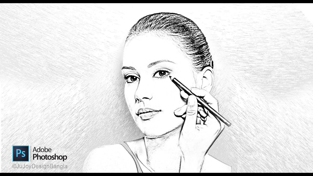 coloring face in photoshop how to draw cool lines line weight variation youtube photoshop face coloring in