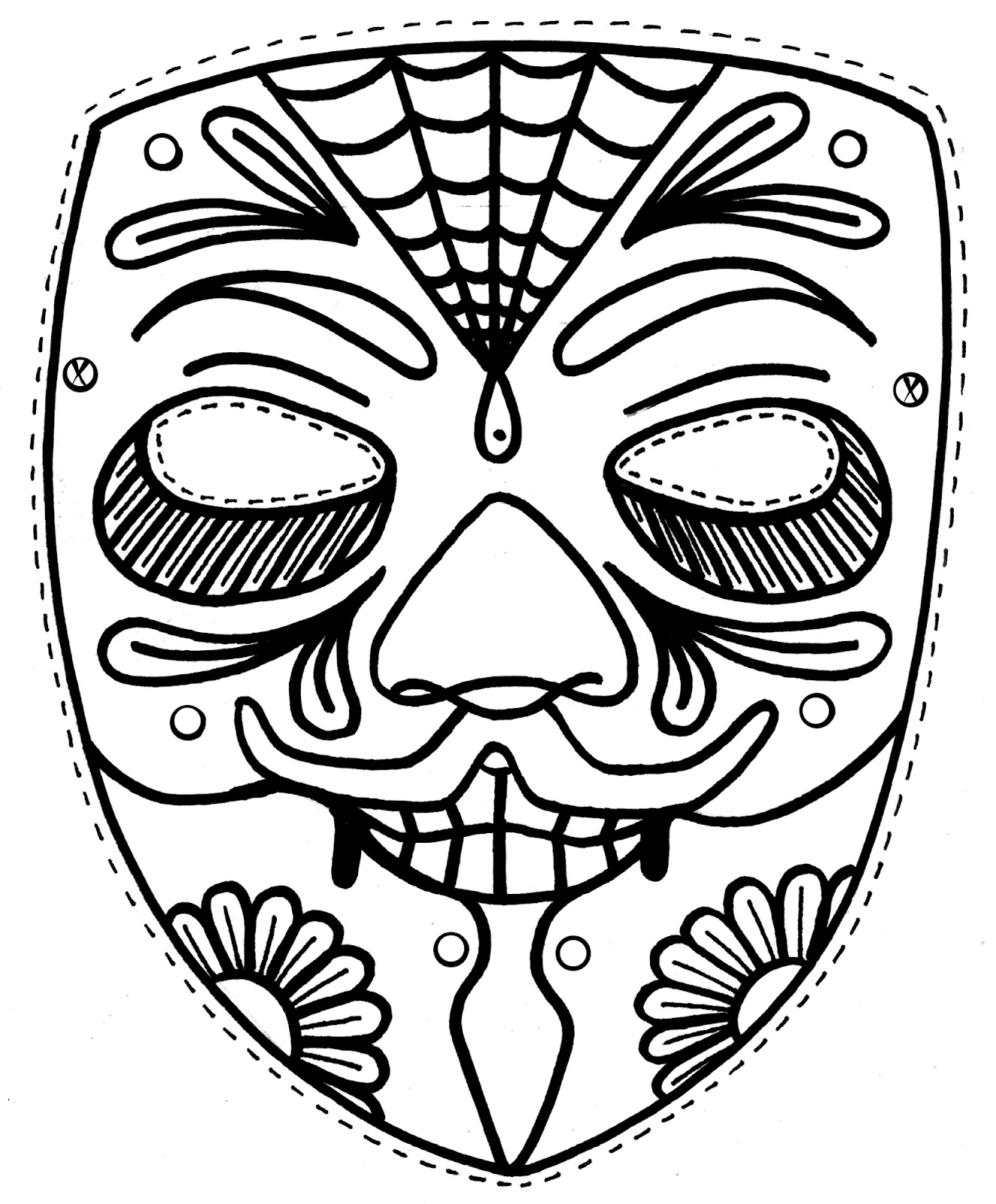 coloring face mask face mask coloring pages at getdrawings free download mask face coloring