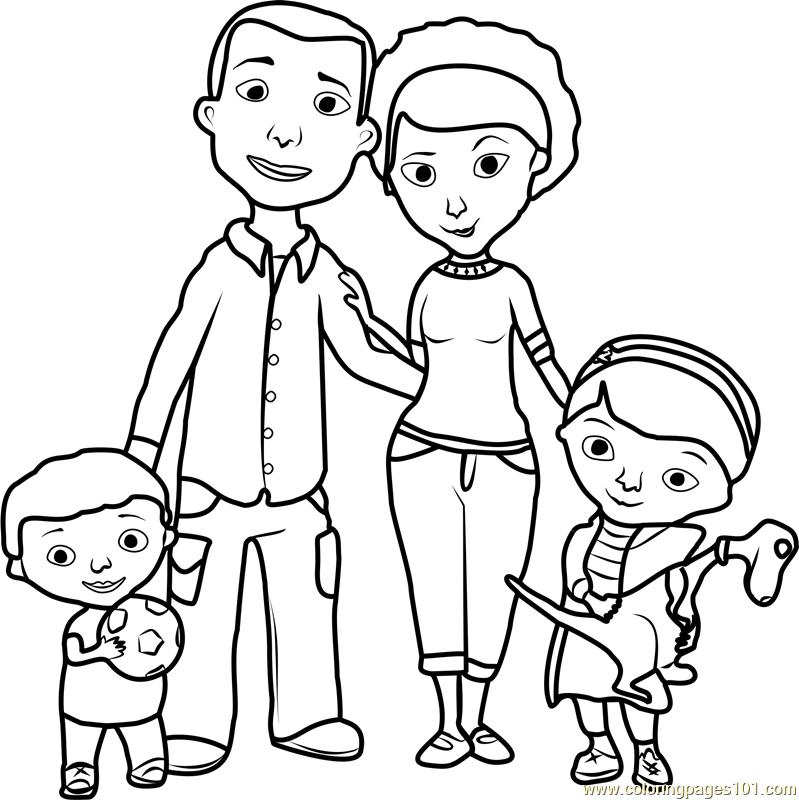 coloring family picture doc mcstuffins family coloring page free doc mcstuffins family coloring picture