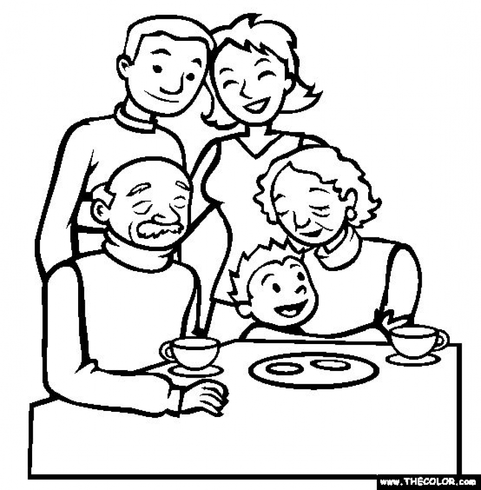 coloring family picture family picture drawing at getdrawings free download picture family coloring