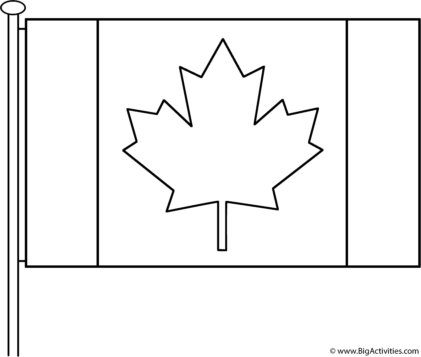 coloring flags canadian flag with pole coloring page remembrance day coloring flags