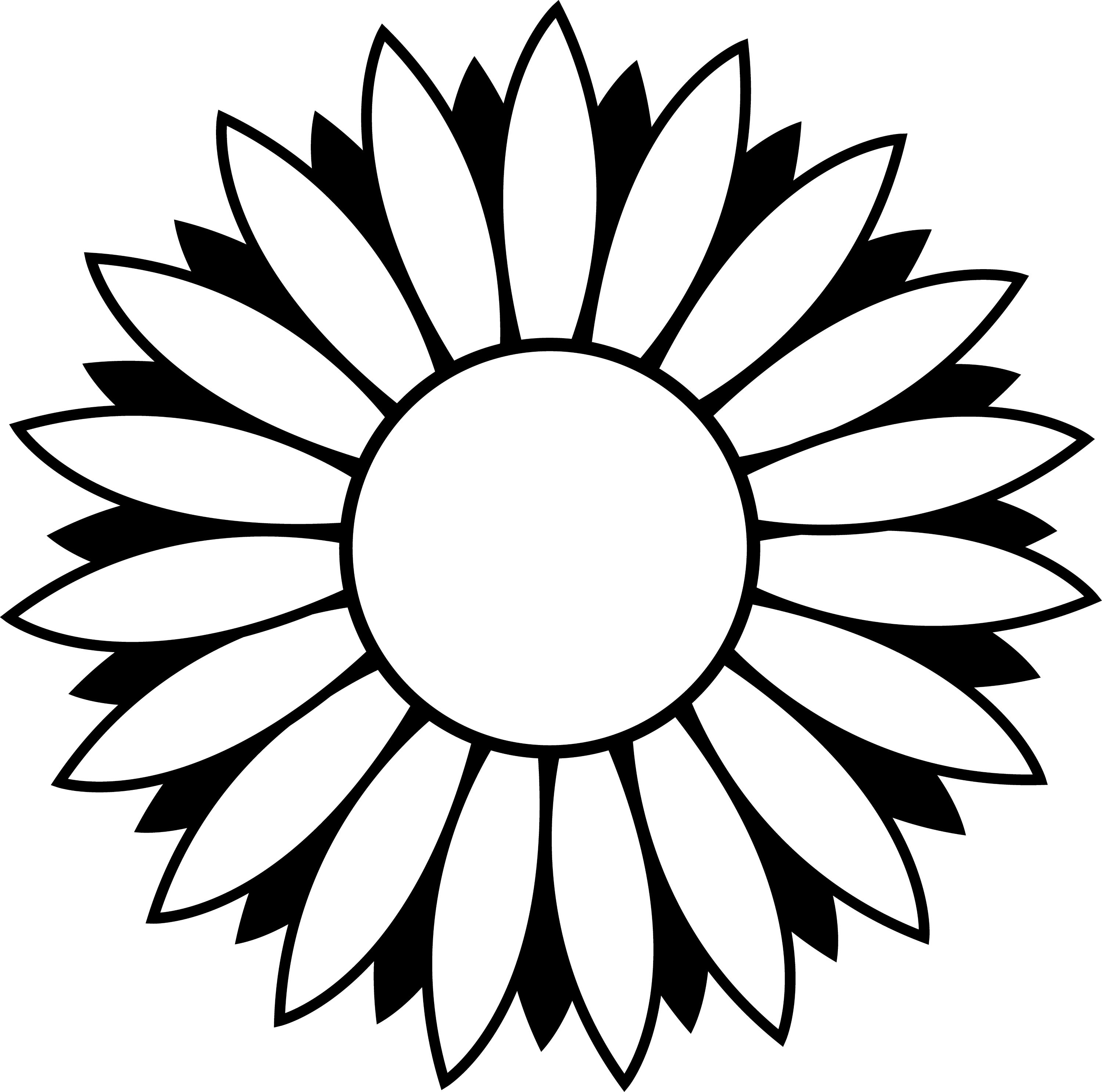 coloring flower clipart black and white 7 best images of printable black and white flowers free clipart and black coloring white flower